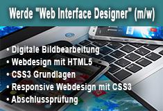"""meht Informationen zu: """"Web Interface Designer"""" (m/w) inkl. HTML, CSS und Photoshop in Hannover"""