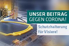 Unser Beitrag gegen Corona – Schutzvisierhalterungen aus dem 3D Drucker!