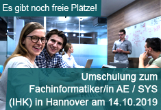 "Umschulung  ""Fachinformatiker/in"" am 19.082019 in Hannover"